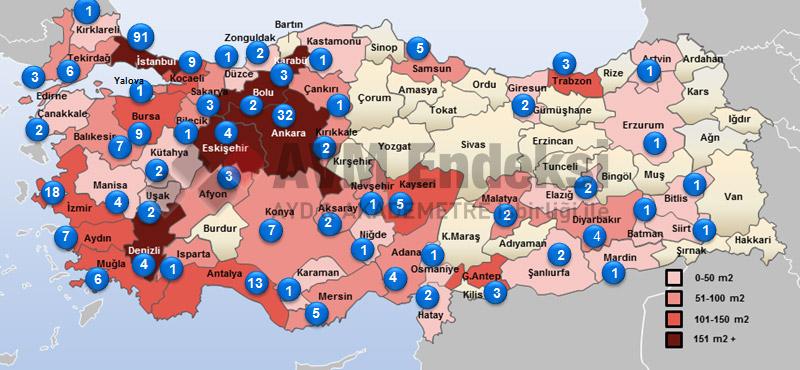 Türkiye AVM Haritasi
