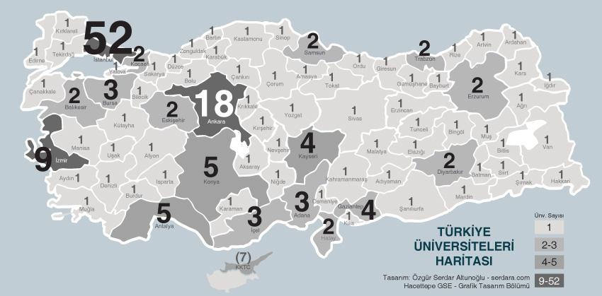 Türkiye Üniversiteler Haritasi